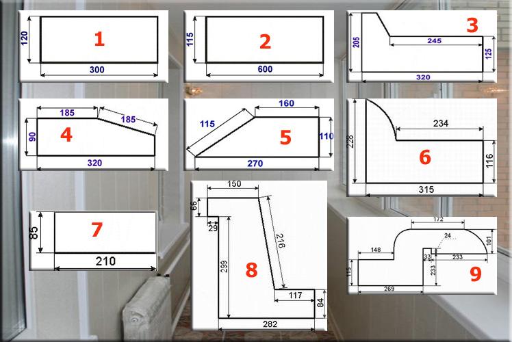 Стандартные размеры балкона