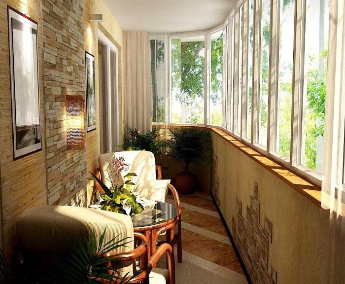 Теплый метод остекления балкона